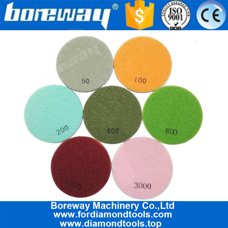 4inch 100mm Flower diamond floor polishing pads for concrete and natural stone 1
