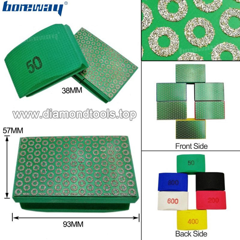 Diamond hand polishing pads 90X55MM Hard Foam-backed Grinding Block 02
