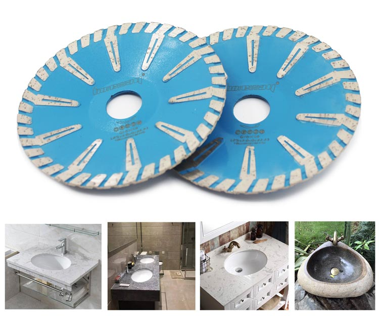 Hot Press Turbo Rim Concave Saw Blades