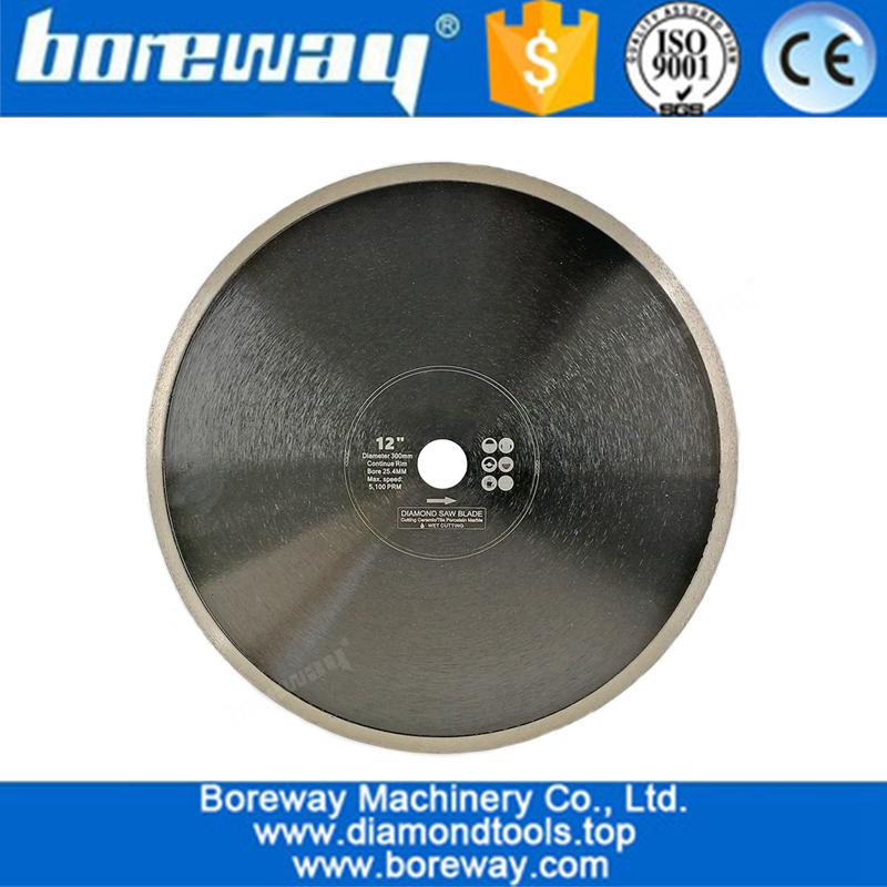 Hot-Pressed Continuous Rim Diamond Saw Blade wholesale Cutting Disc Porcelain Tile Ceramic Marble Saw Blade