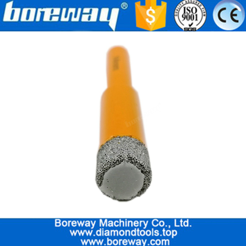 5Pcs/set Round Shank Vacuum Brazed Diamond Drill Bits for stone 02
