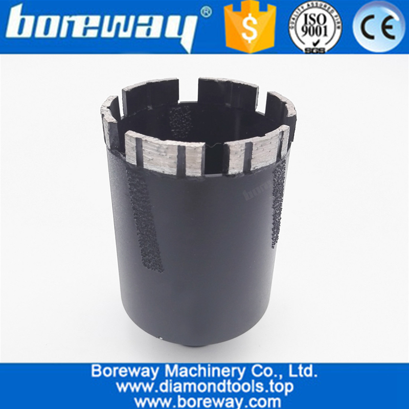 Dia.65mm Laser Welded Diamond Core Bits Dry Drilling With Side Protection 5/8-11 Thread 04