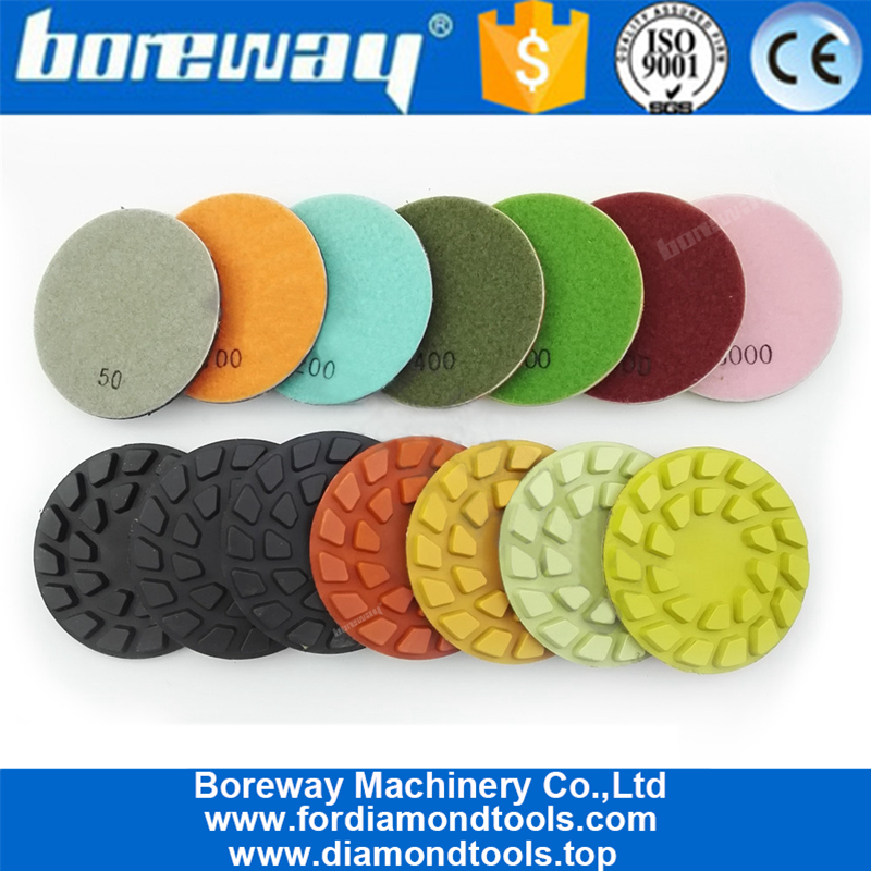 4inch 100mm Flower diamond floor polishing pads for concrete and natural stone5