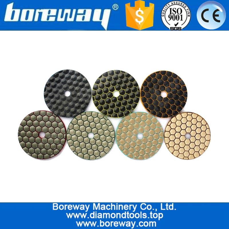 3 inch diamond flexible polishing pad for granite marble premium grade dry Polishing pad