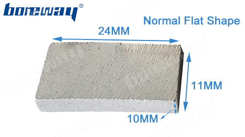 Diamond tool flat type diamond segment