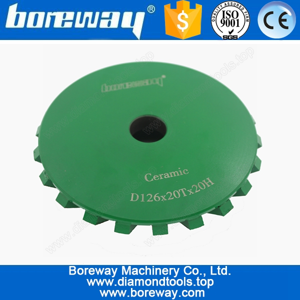 Diamond 45 degree CNC Ceramice Chamfering Wheel D126*20T*20H