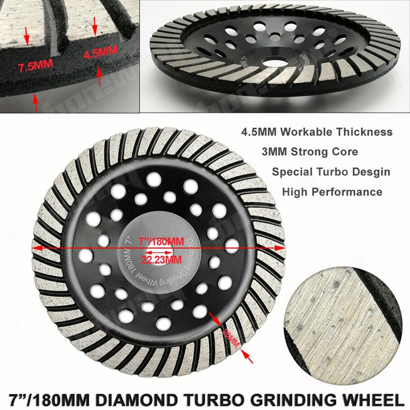7inch Diamond Turbo Row Grinding Cup Wheel