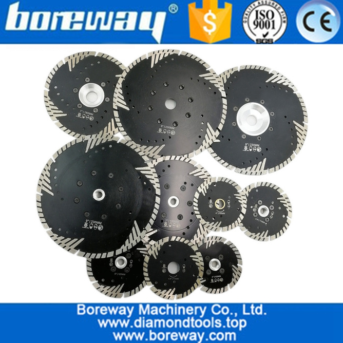 Hot pressed Diamond Turbo Blade with Slant Triangle teeth Diamond cutting disc