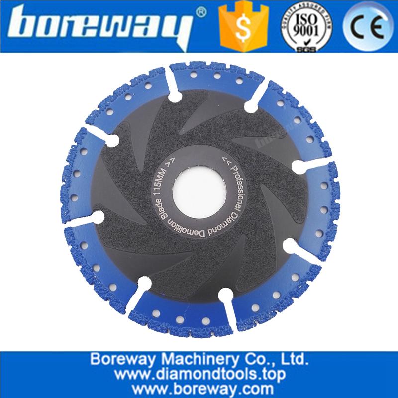 Vacuum Brazed Diamond Blade for All Purpose For stone iron steel Demolition Blade