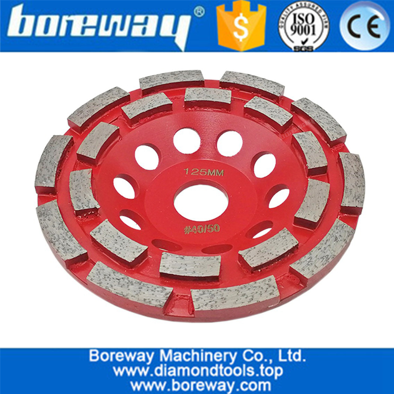 High quality  turbo double row cup wheel segmented diamond grinding cup wheel