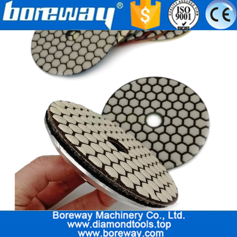 Dry Flexible Diamond Polishing Pads 4inch 100MM Resin Bond Diamond Flexible Diamond sanding disc 02