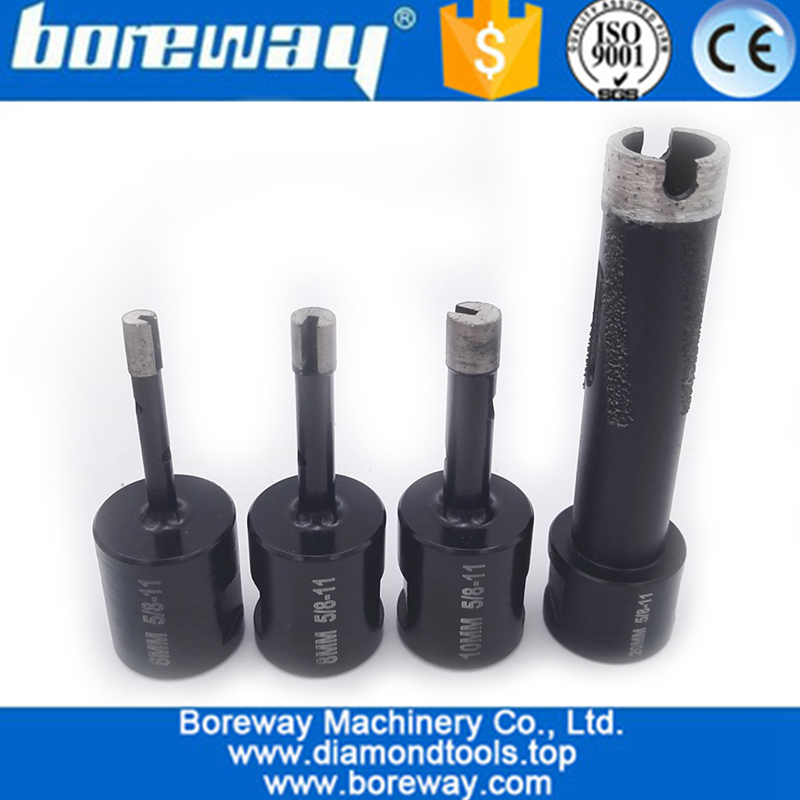 4Pcs Welded Diamond Drill Core Bits with 5/8-11 Thread for Drilling hard granite marble -1
