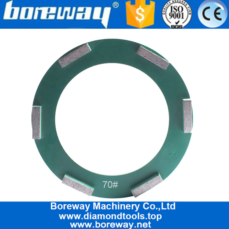 240mm Ring Diamond Concrete Plate Klindex Grinding Wheel With 6 Bars Suppliers