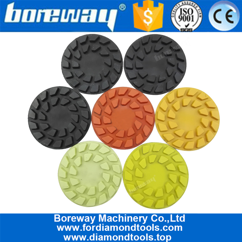 4inch 100mm Flower diamond floor polishing pads for concrete and natural stone