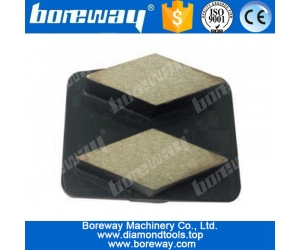 2 rhombus diamond bar diamond grinding shoes curved segment with redi-lock for scanmaskin floor grinders
