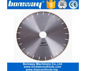12 Inch Silver Weld Diamond Saw Blades for Microcrystal Stone