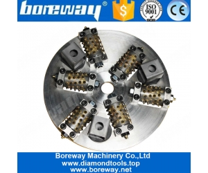 300mm Alloy Bush Hammer Surface Grinding Disk 45 Teeth 6 Roller Tool Stone Concrete For Floor Grinding Machine