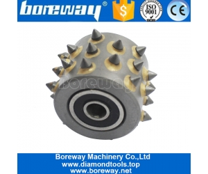 30s Alloy Teeth Litchi Grinding Grains 3 Row 2 Row Arrangement Without Support Bush Hammer Grinding Wheel