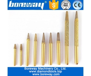 31models available CNC Vaccum Brazed Diamond engraving bits cutter rotary burrs carving tools granite marble carving bits