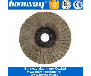 4 Inch 100mm Electroplated Diamond Flap Disc For Stone Metal
