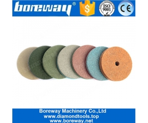 4 Inch 10mm Thickness Sponge Polishing Pads For Marble Artificial Stone