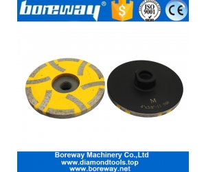 4 Inch China Diamond Resin Fill Grinding Cup Wheel for Stone Suppliers Or Manufacturer