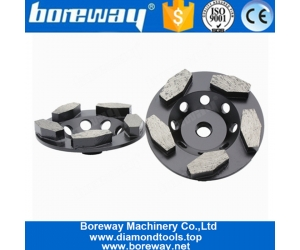 4 Inch Diamond Concrete Grinding Wheel With Thread Holes For Concrete Floor Renovation