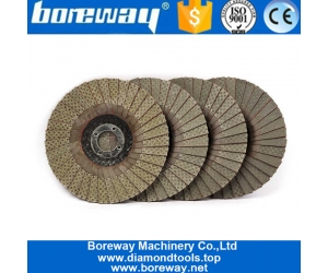 4 Inch Diamond Electroplated Flap Sanding Disc For Angle Grinder
