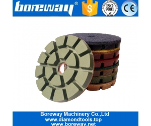 4 Inch Diamond Wet Polishing Pads Abrasives Tool For Stone Concrete
