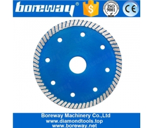 4.5 Inch Turbo Diamond Saw Blade With Cooling Holes For Granite Sandstone Concrete