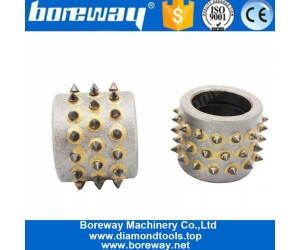 45 Teeth Diamond Bush Hammered Grinding Rollers for Stone Manufacturer