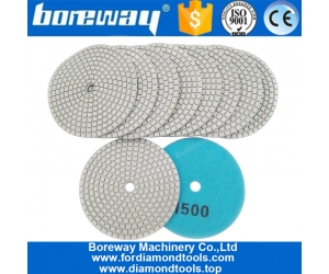 4inch 100mm Resin Bond Wet or Dry Diamond Polishing Pad for Granite Marble Stone