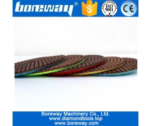 wholesale 4inch Copper polishing pad for stone surface polishing