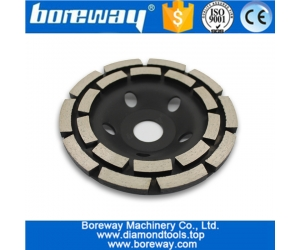 5 Inch Double Row Diamond Grinding Cup Wheel For Granite Stone And Concrete