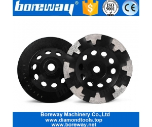 5 Inch T Segment Diamond Grinding Bowl Wheel For Concrete Stone