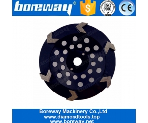 7 Inch 6 Arrow Segments Metal Bond Diamond Grinding Disc For Concrete Terrazzo Floor