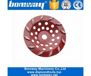 7 Inch Twelve Rhombus Segments Concrete Cup Wheel For Concrete Lapping and Stone Polishing
