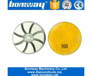 7 Step Dry Use Diamond Resin Polishing Pads For Concrete Floor
