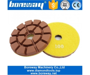 7 Step Resin Diamond Floor Polishing Pads For Marble Concrete