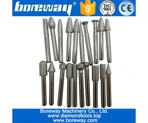 Best Quality Vacuum brazed Diamond Engraving Bits and Grinding Pin for marble stone used on CNC Machine