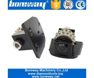 Boreway 30S Lavina bush hammer Rollers Head tools With Support For Floor Grinder Manufacturer