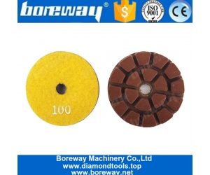 Boreway 75mm Resin Diamond Floor Polishing Pad for Concrete Stone