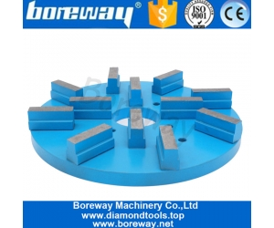Boreway 8 Inch 10 Inch 400# Oval Sharp Metal Segmented Type Grinding  Top Quality Polishing And Grinding Disc For Granite