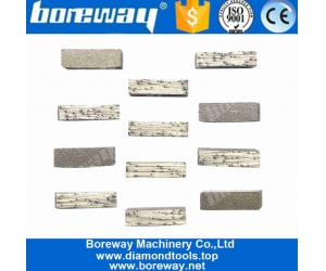 Boreway 800mm Flat Types Cutting Diamond Segments For Slab Edge Cutting Of Granite