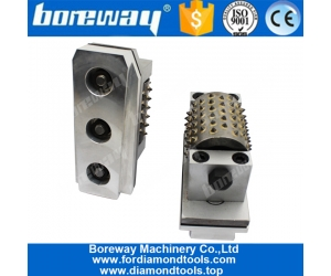 Boreway 99S Litchi Surface Smooth Grinding Concrete Granite Stone Bush Hammer  Rollers Tools Suppliers