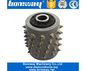 Boreway Bush Hammer Roller With 60s For Concrete And Stone Litchi Surface