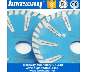 Boreway Convex T Shape Turbo Segmented Concave Blade 180mm Curved Diamond Cutting Granite Cutting Discs Wholesaler 7'' Contour Cut with a Blade