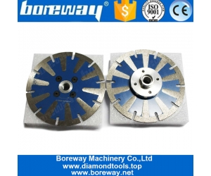 Boreway Diameter T Shape Segment 4 Inch Curved Diamond Saw Blades Diamond Concrete Granite Marble Sink Cutting Disc Tool