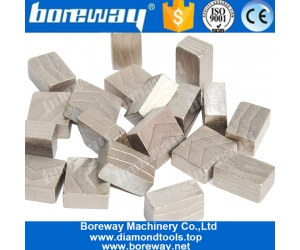 Boreway Diamond circular Saw Blade Segments for Block of various hard stone Manufacturer