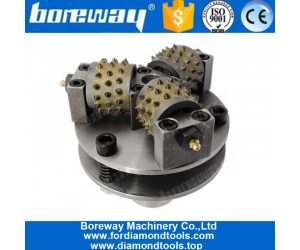 Boreway Factory Diamond 150mm Bush Hammer Plate Wet Use Abrasive Double Layer Disc For Stone Making Litchi Surface